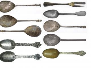 Assorted spoons and fork